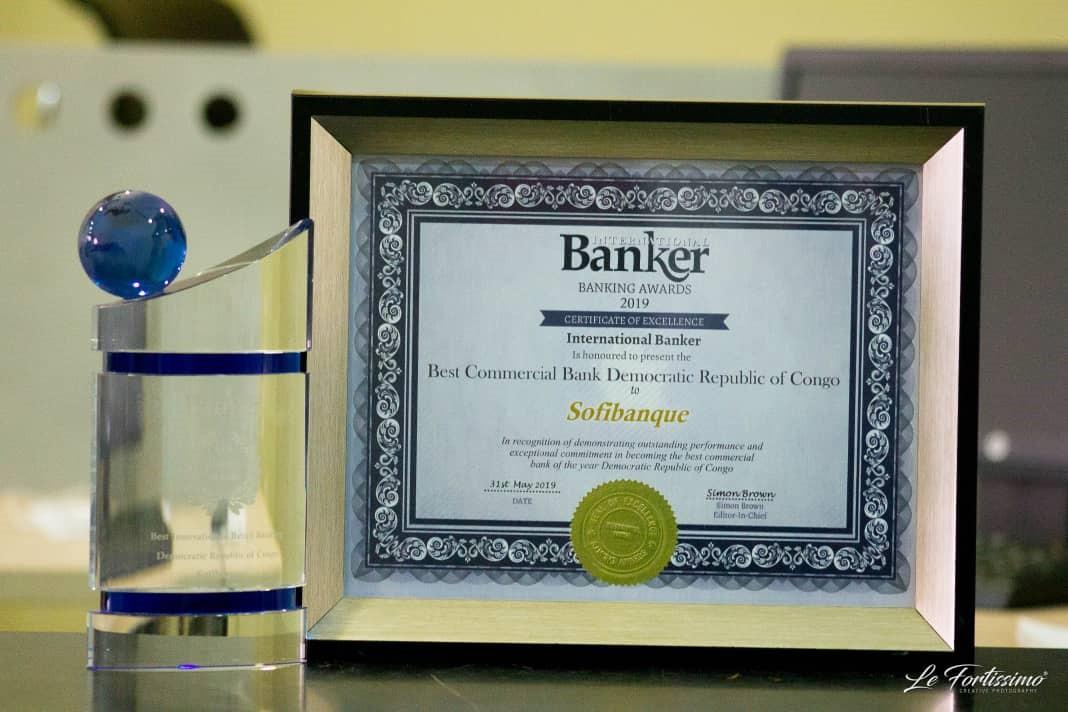 DRC: International Banker Awards SOFIBANQUE Two 2019 Best Bank Awards