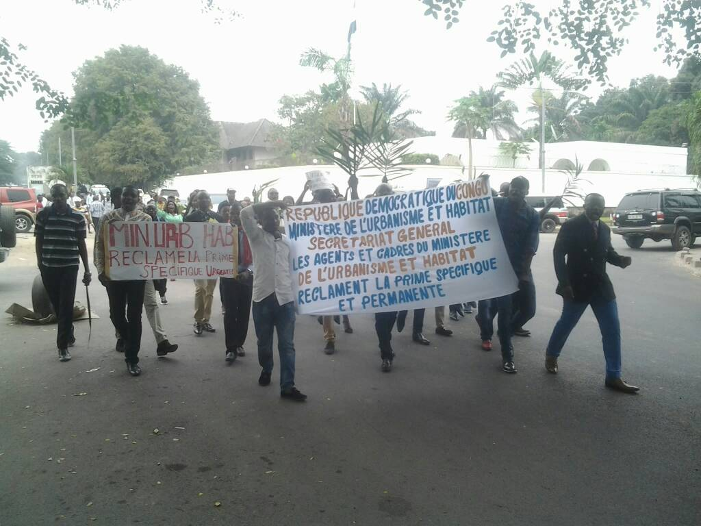 DRC: Ministry of Urbanism, agents demand the payment of arrears of two bonuses