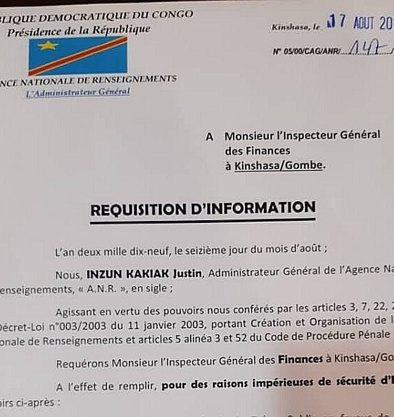 DRC: The Finance Inspectorate audits the management of funds allocated to Ministries