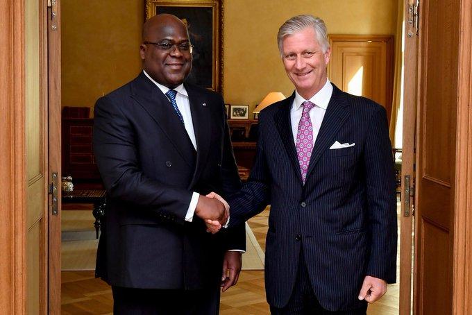 DRC - Belgium: President Tshisekedi received by King Philippe