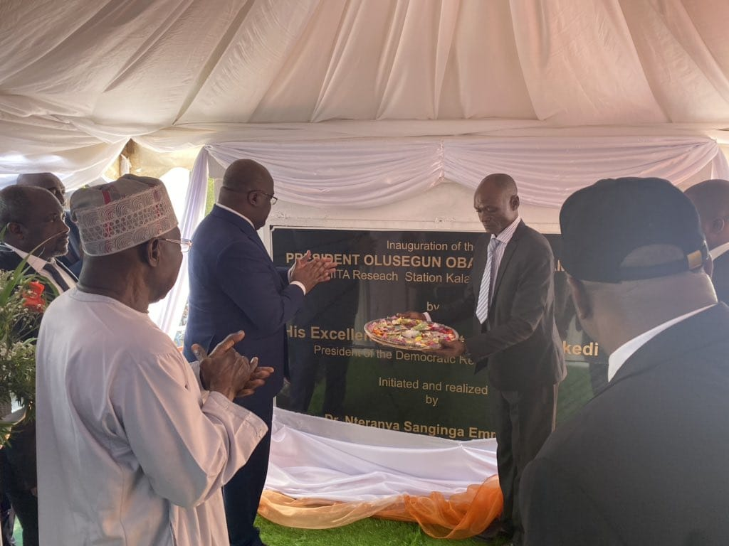 DRC: Tshisekedi inaugurates IITA's agricultural laboratory in Bukavu